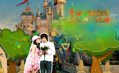 AE唯美童话爱情婚礼电子相册模板