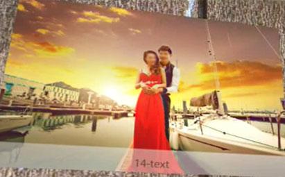 AE婚礼家庭相册预告视频模板