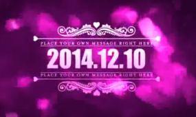 AE高清创意紫色大气婚礼开场片头