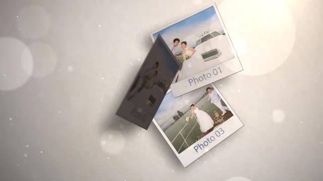AE照片坠落婚礼婚庆开场预告视频模板