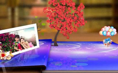 AE浪漫唯美卡通婚礼电子相册视频模板