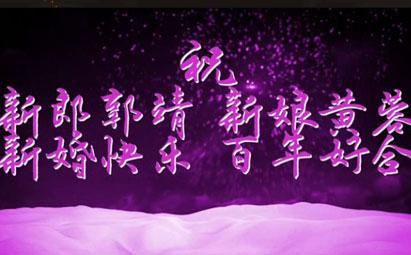 AE烟花婚礼祝贺字幕开场视频模板