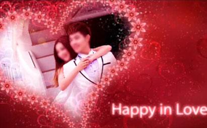 AE浪漫红色爱心婚庆开场视频模板