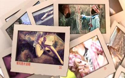 AE唯美浪漫图片展示婚礼电子相册模板