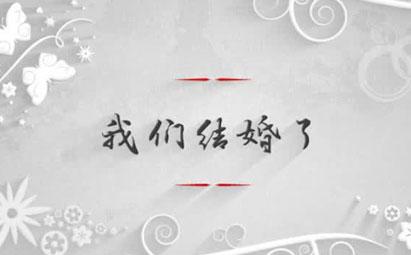 AE唯美婚礼庆典开场婚庆电子相册视频模板