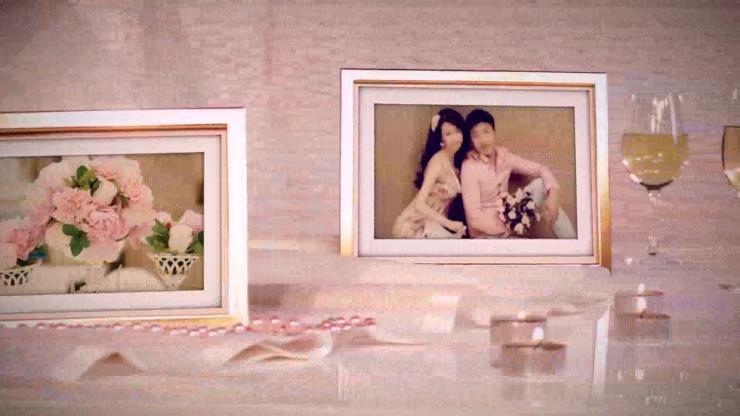 AE浪漫时尚粉色婚礼电子相册视频模板素材