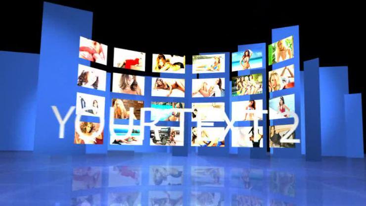 AE震撼3D图片墙电子相册开场