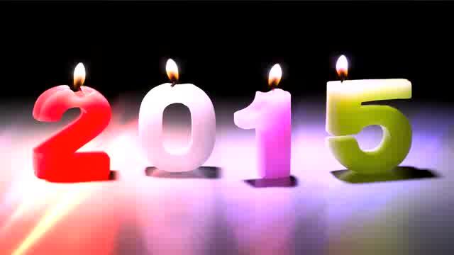高清2015年数字蜡烛艺术开场LED视频素材