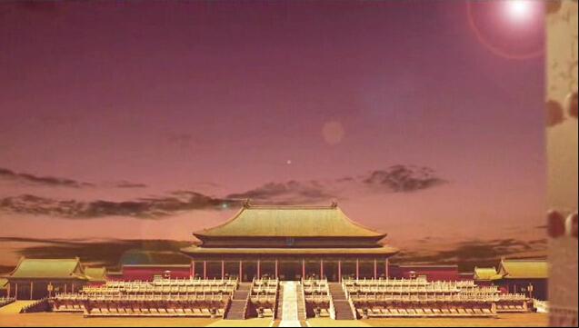 高清穿越古代皇宫晚会开场LED视频素材