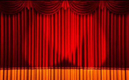 高清大气红色幕布婚礼开场LED视频素材