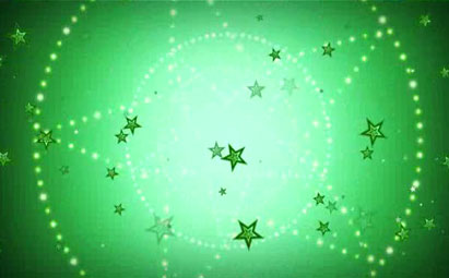 绿色大五角心带小五角心旋转LED灯光视频素材