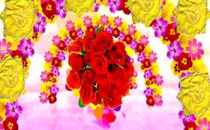 东北二人转秧歌打鼓花朵旋转LED鲜花素材