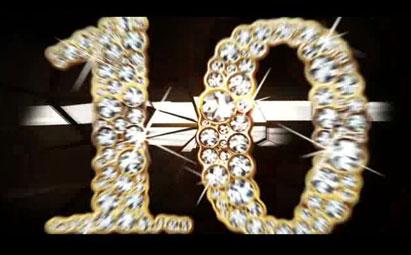 超炫酷钻石倒计时LED视频素材