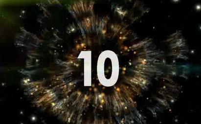 动感10秒超震撼倒计时LED视频素材