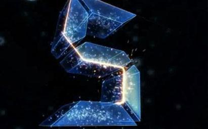 5秒震撼粒子倒计时视频素材