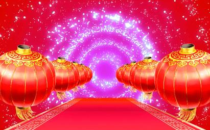 新年大红灯笼LED视频素材