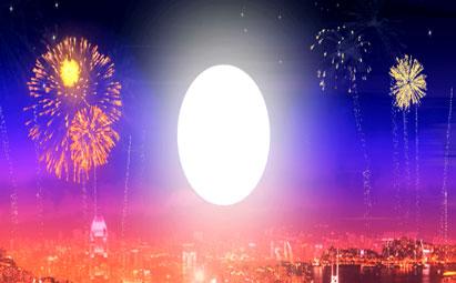 喜庆节日城市烟火LED视频素材