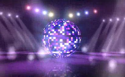 唯美彩球旋转LED灯光视频素材