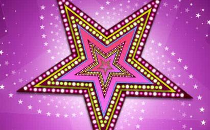 炫酷粒子五角星旋转LED演出背景灯光视频素材