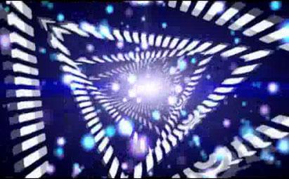 动感炫丽三角行晚会开场LED灯光视频素材