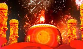 春节喜庆节日击鼓LED视频素材