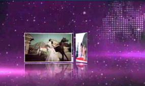 会声会影大气紫色婚礼相册模板视频模板