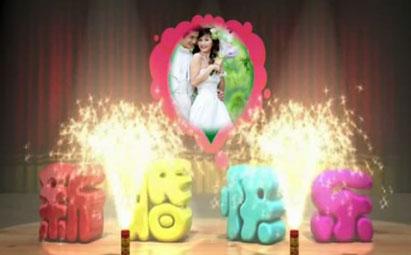 会声会影X6明星祝福新婚快乐视频模板