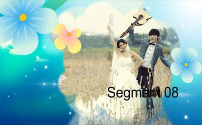 会声会影X6清新花朵婚礼片头视频模板