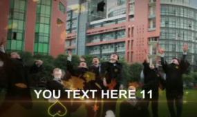 会声会影X6同学聚会怀旧风格毕业电子相册视频模板
