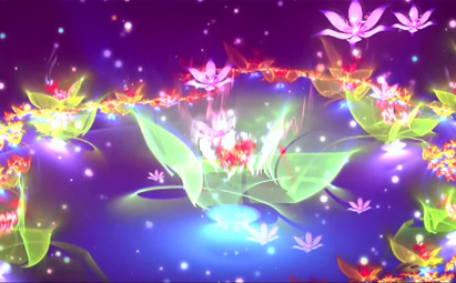 震撼星球花世界LED晚会开场视频素材
