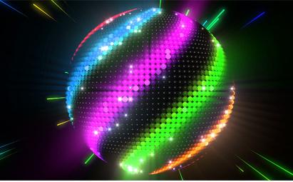 动感霓虹炫彩球LED舞台灯光视频素材