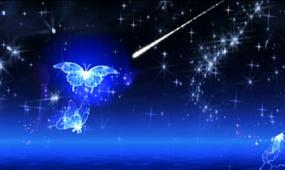LED唯美星空蝴蝶飞舞晚会背景视频素材