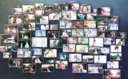 AE3D照片墙婚礼相册视频模板