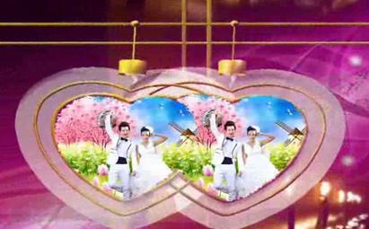 会声会影玫瑰红心形婚礼视频模板