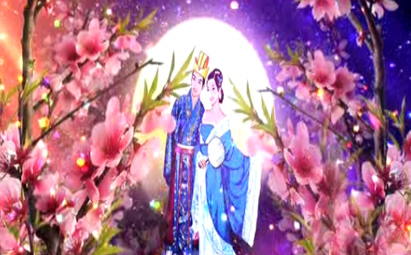 唯美情人节晚会背景LED视频素材