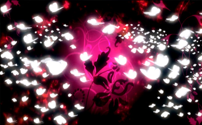 五彩背景唯美蝴蝶飞舞LED晚会背景素材