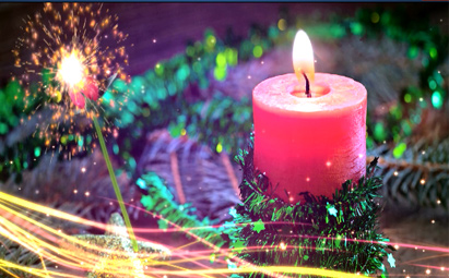 玫瑰蜡烛LED晚会视频背景素材