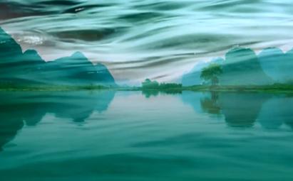山歌好比春江水桂林山水LED晚会背景素材