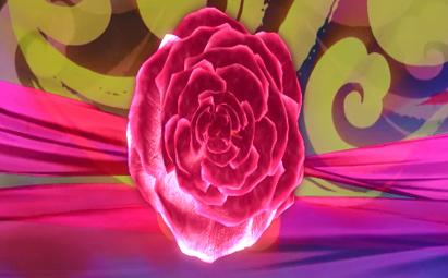 幸福红玫瑰舞台循转晚会背景(像素2048*896)