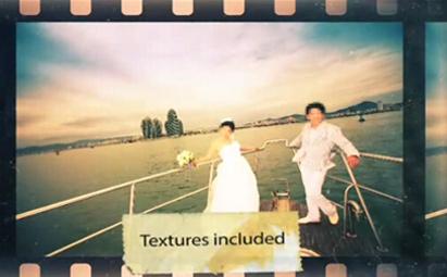 AE电影胶卷婚礼开场片头视频模板