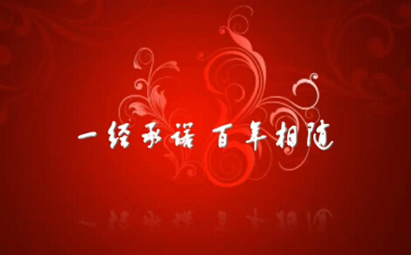 AE红色喜庆百年相随婚礼视频模板