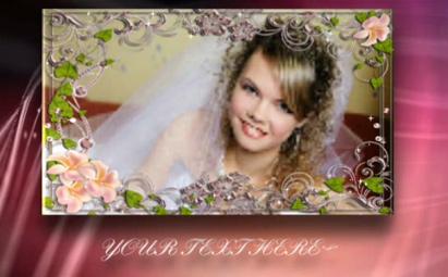 婚纱电子相框AE婚礼视频模板