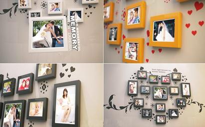 AE3D照片墙电子相册婚礼视频模板