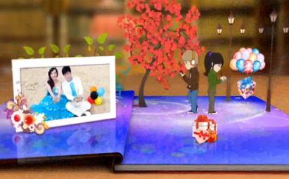 唯美浪漫婚庆情人节相册展示AE视频模板