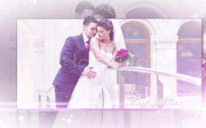 AE梦幻婚纱甜蜜电子相册视频模板