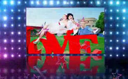 会声会影X6星星飞舞婚礼视频模板