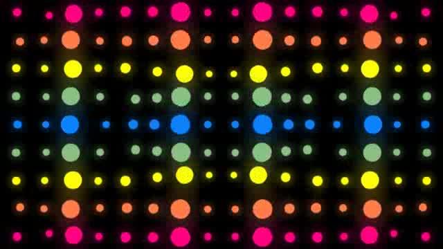 LED动感彩色视觉灯光视频素材