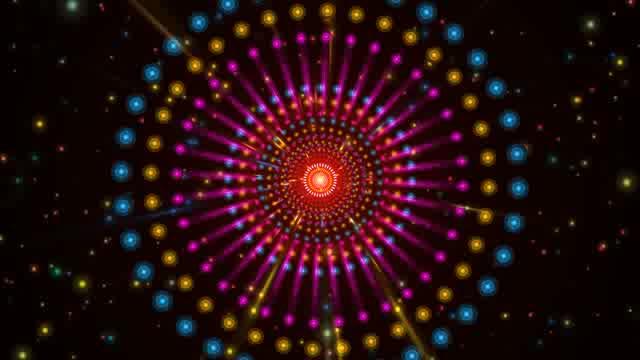 LED光斑隧道灯光背景视频素材