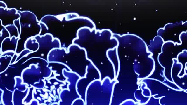 LED炫光光子花晚会背景素材