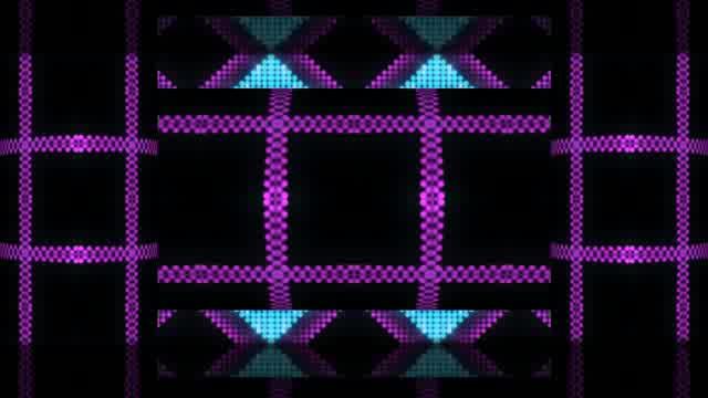 动感紫色圆柱LED灯光视频素材